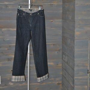 Women's Burberry London Denim Cuff Jeans, Size 8